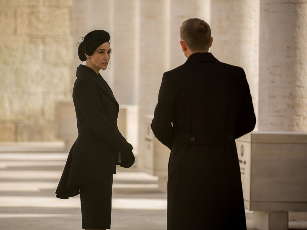 PHOTO: Monica Bellucci and Daniel Craig in the forthcoming James Bond film, Spectre.
